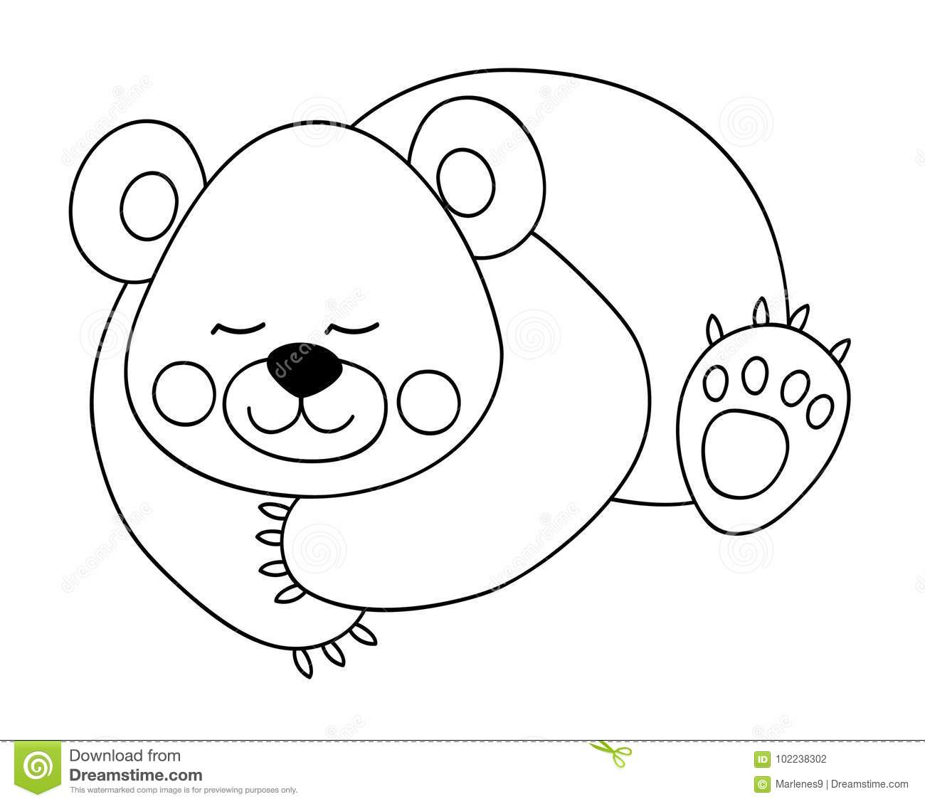 Vector Cute Cartoon Bear Stock Vector Image Of Grizzly