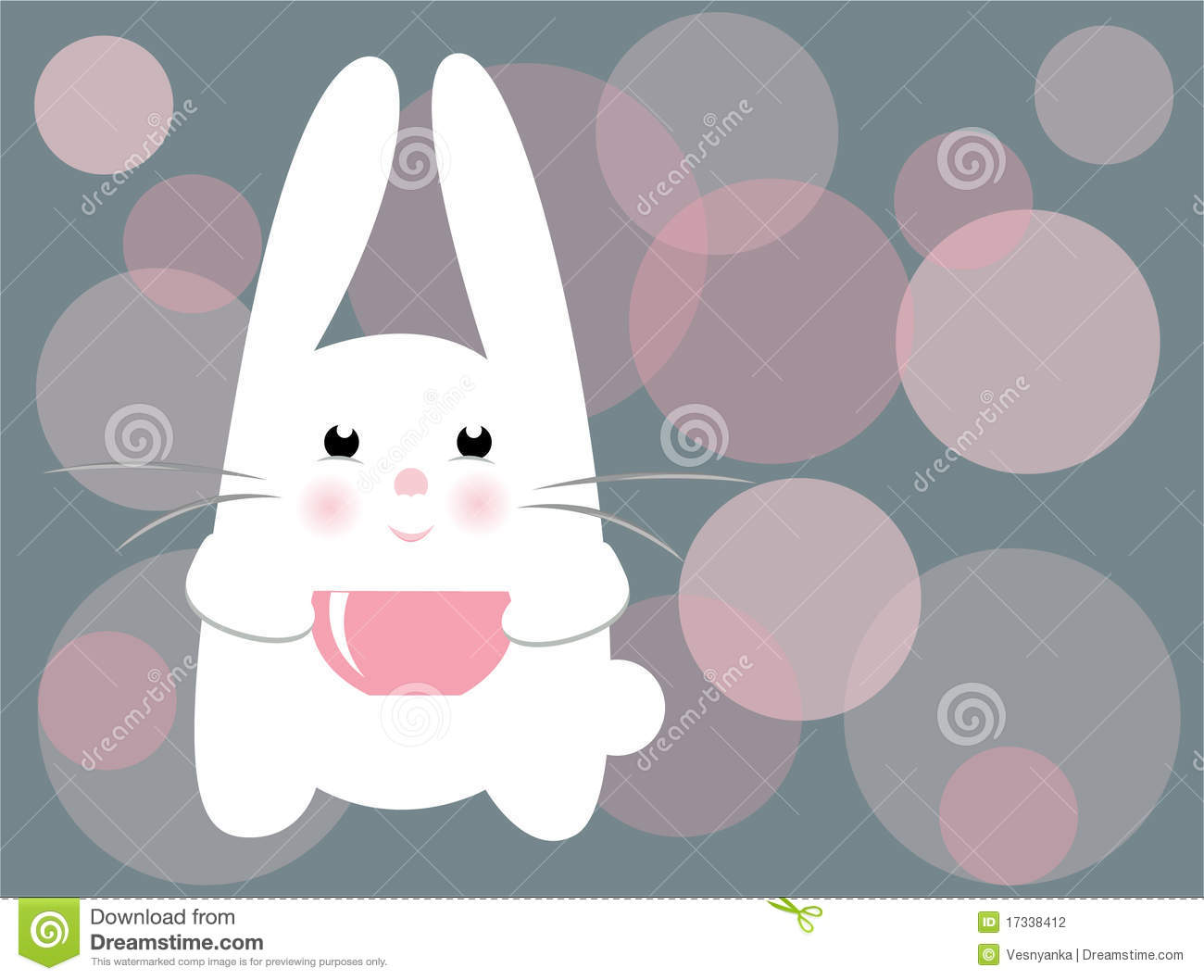 Cute White Baby Rabbits Wallpapers Vector Cute Rabbit Stock Vector Illustration Of Glow