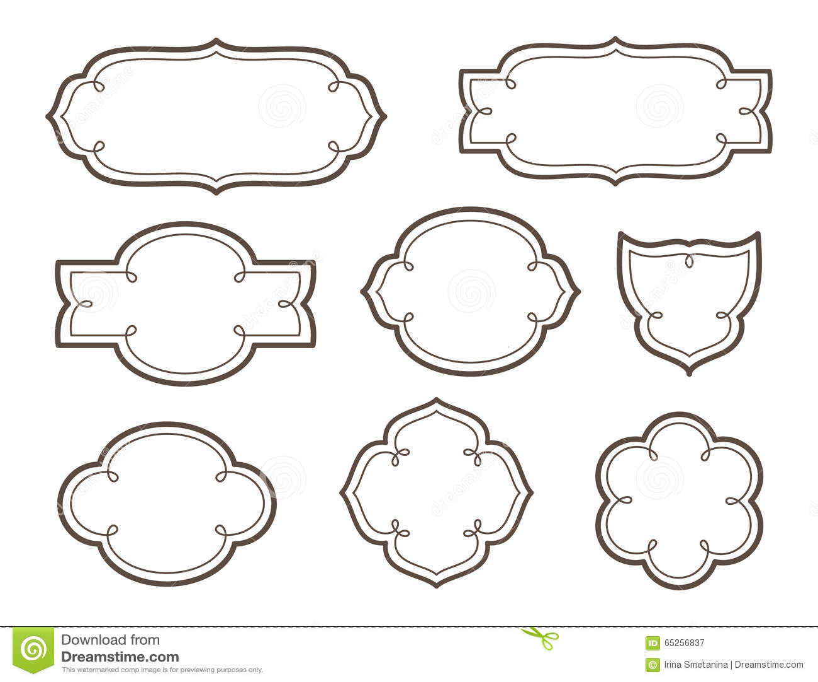 Vector Decorative Frames For Logos And Names Stock Vector