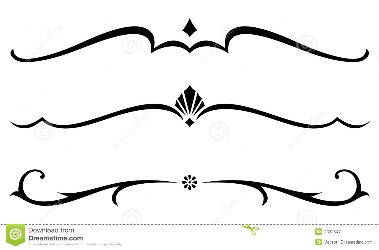 Vector Decorative Rules stock vector. Illustration of line