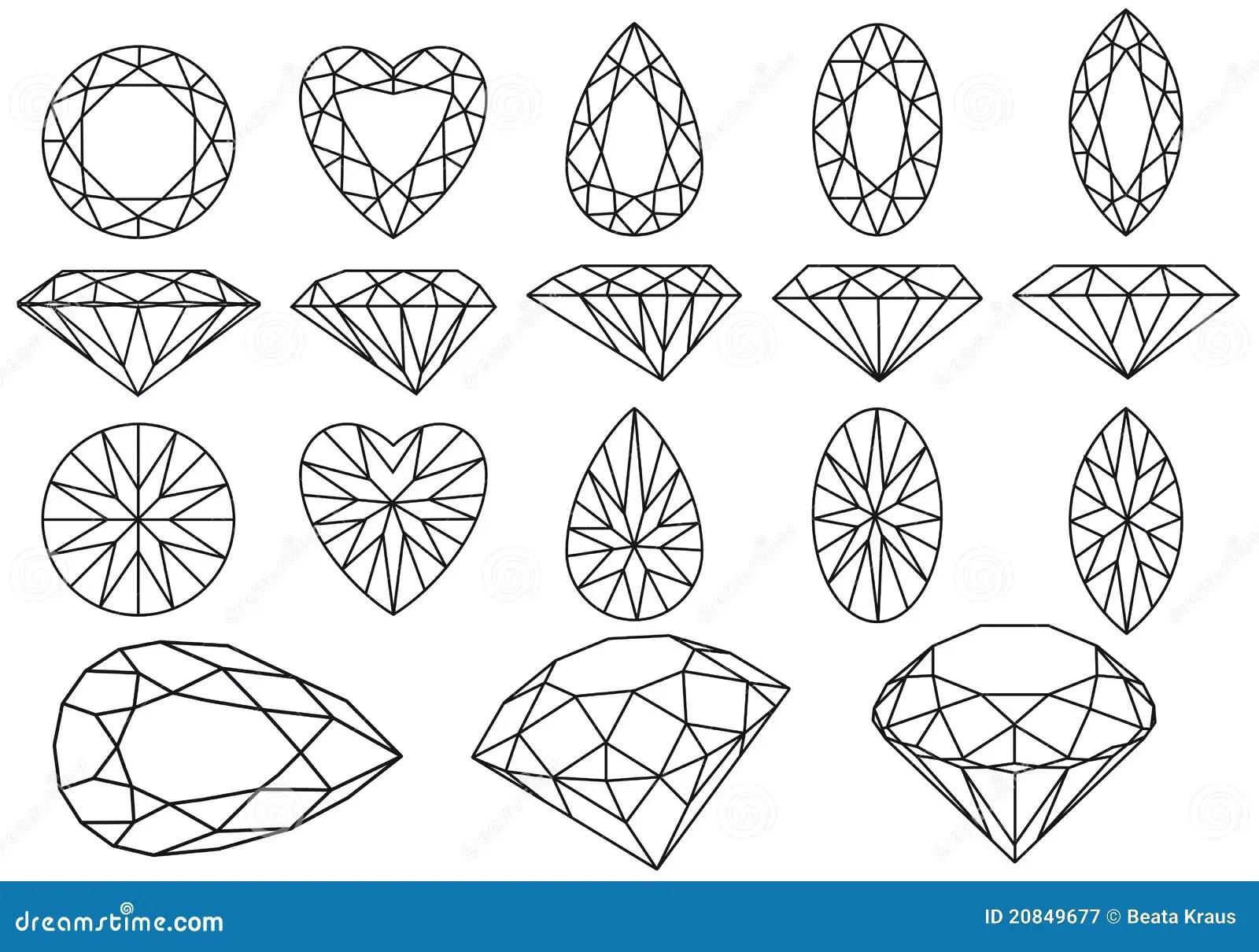 Vector Diamond Set Stock Vector Illustration Of Luxury