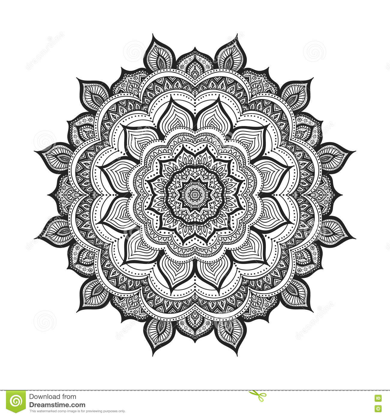 Vector Doodle Mandala Stock Vector Image Of Amulet