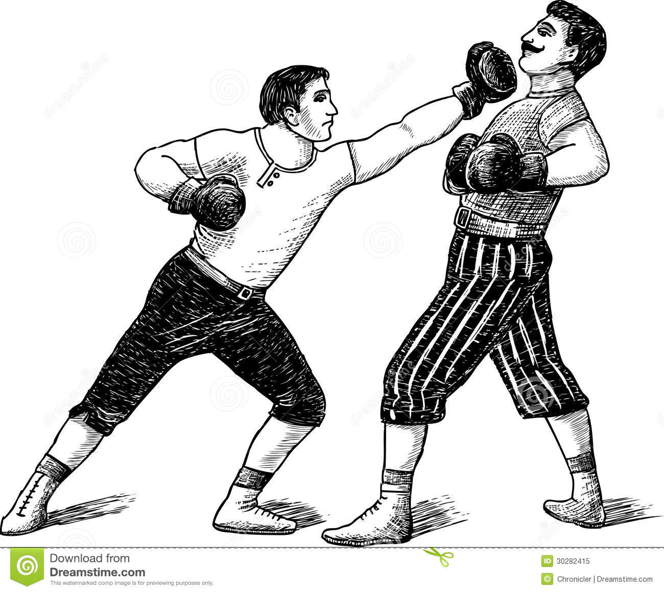 Vintage boxers stock image. Image of blow, boxers, drawn