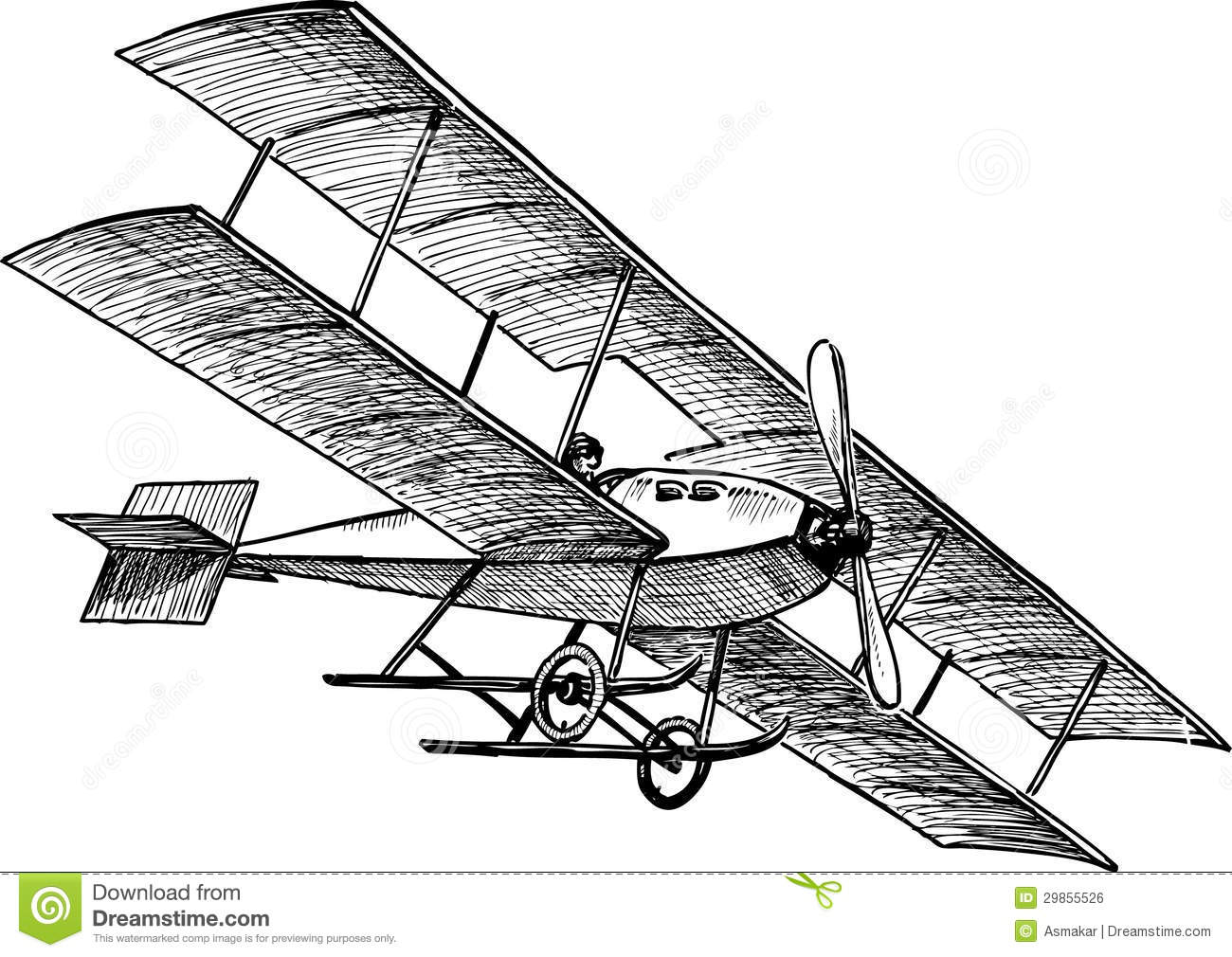 Ancient Airplane Stock Vector Illustration Of Hand Pilot