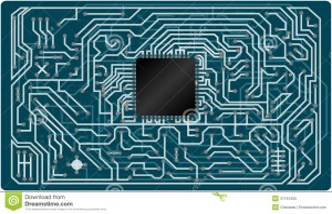 Vector Electronic Circuit Board Stock Vector  Image: 31161055