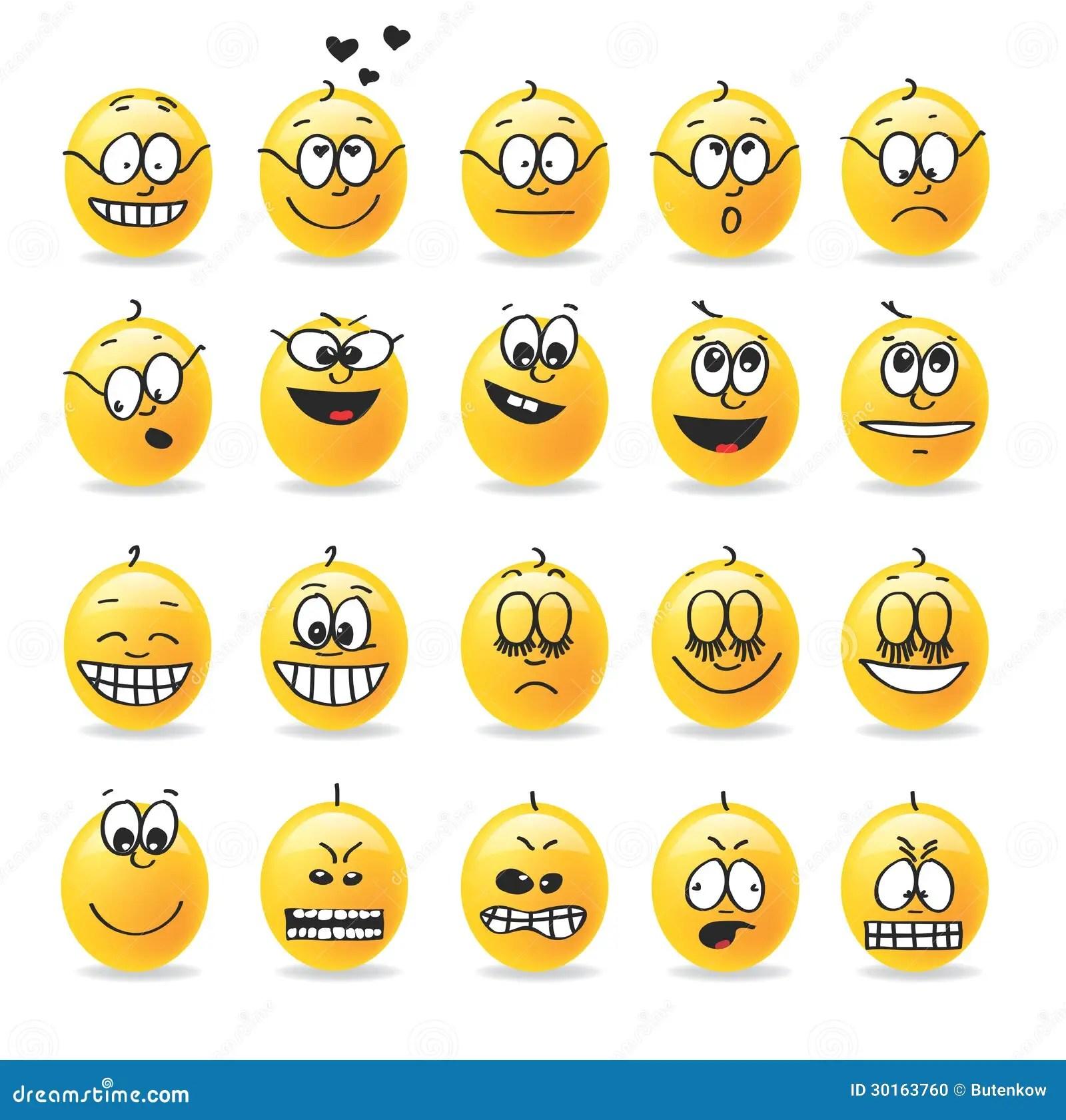Vector Smiley Emotions Moods Stock Vector