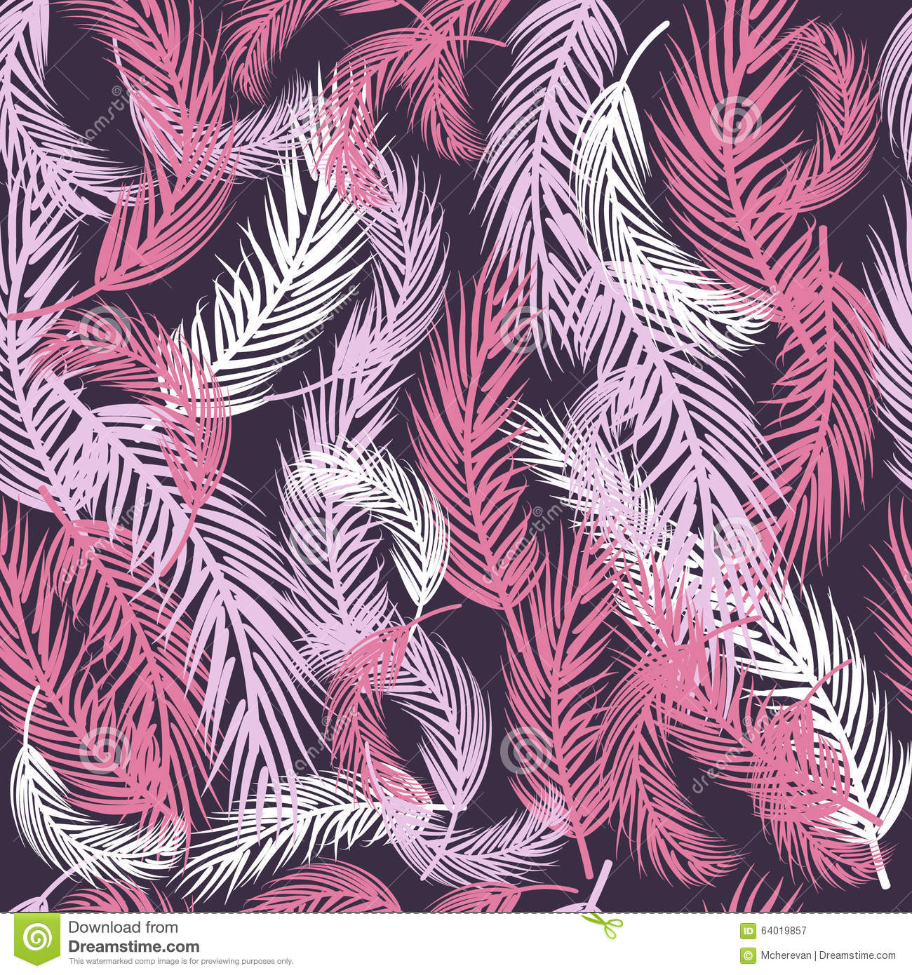 Vector Feather Background Retro Pattern In Pastel Colors
