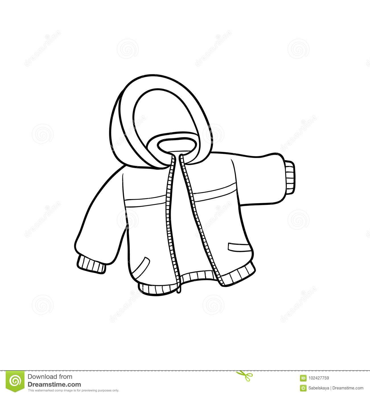 Vector Flat Baby Kid Jacket Stock Vector