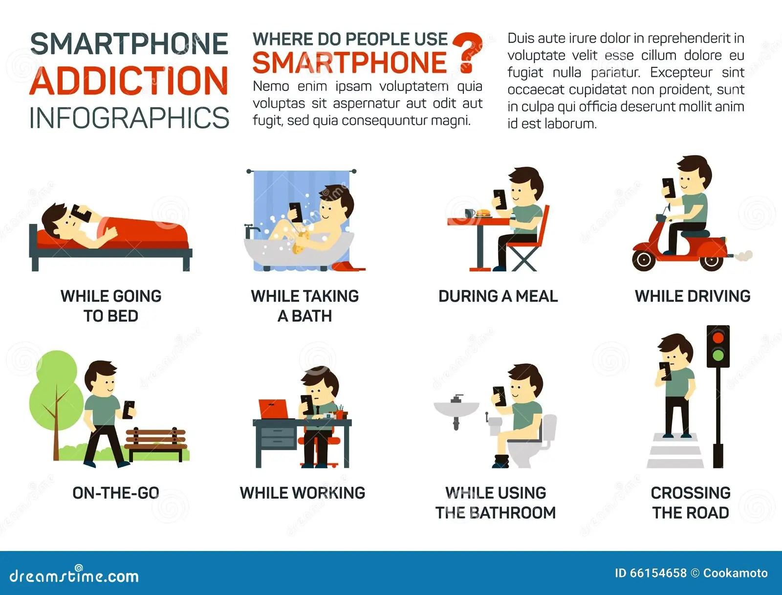 Smartphone Addiction Royalty Free Stock Photography