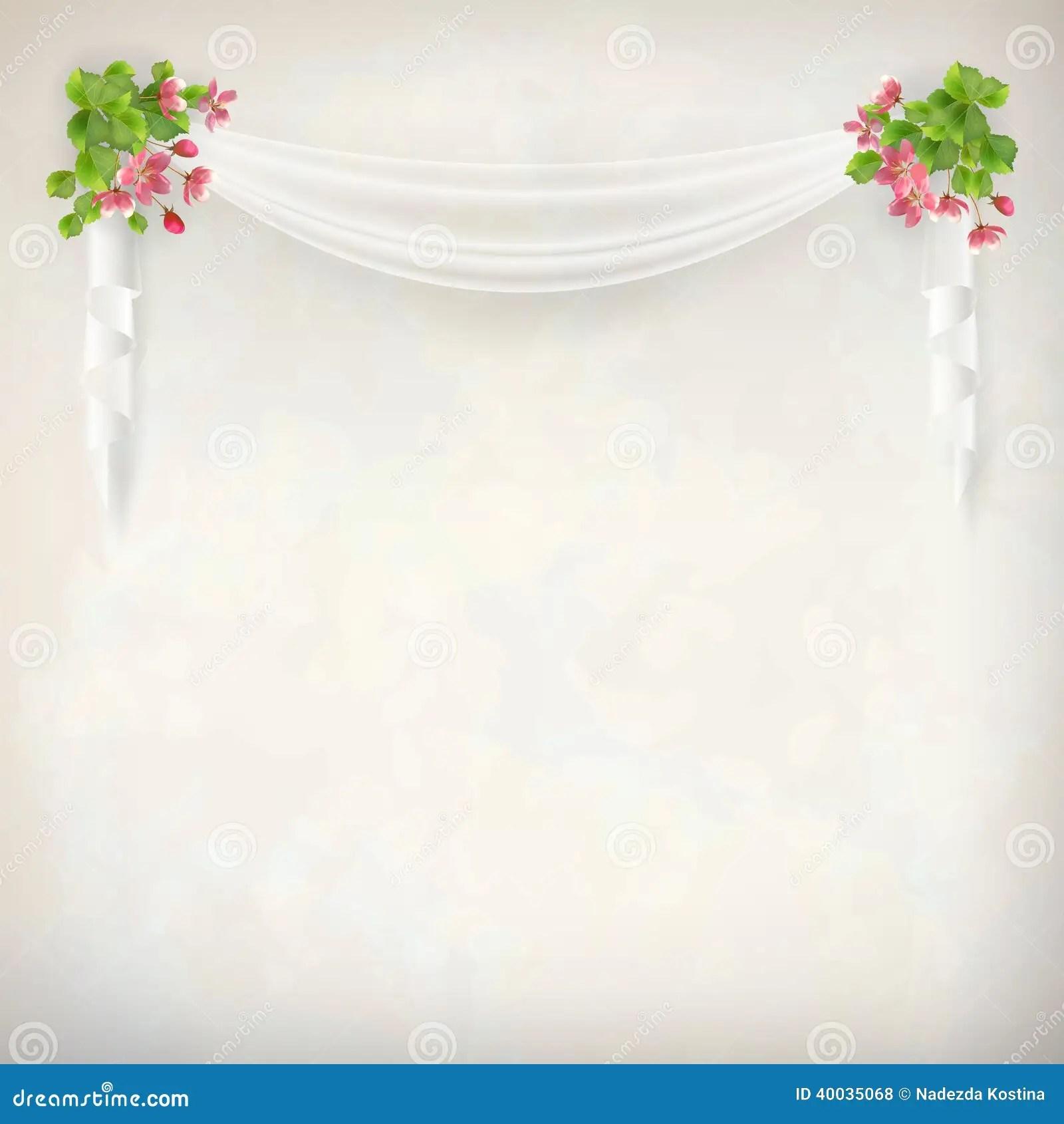 Vector Floral Vintage Wedding Background Stock Vector Illustration Of Floral Pattern 40035068