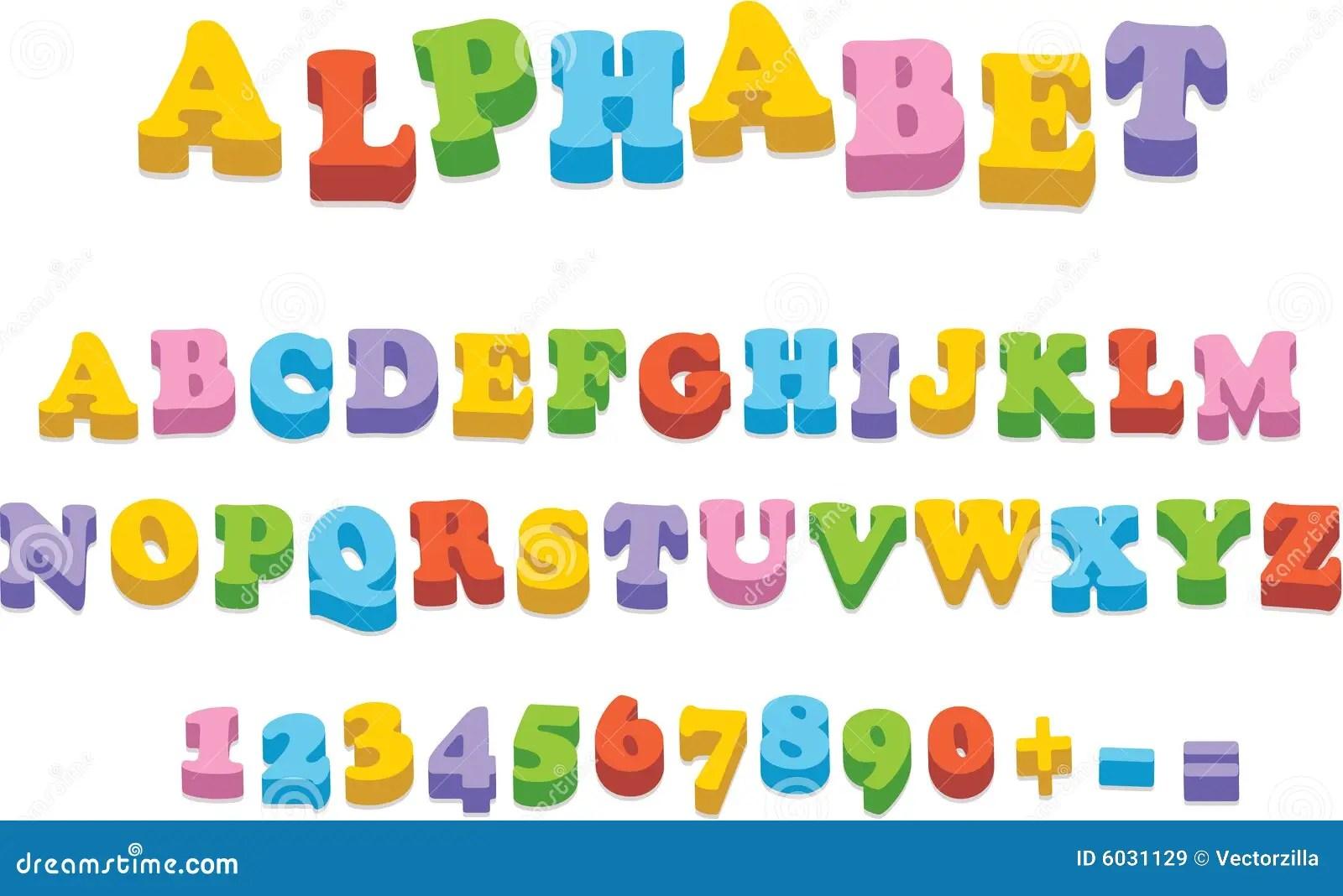 Vector Fridge Magnet Alphabet Spelling Letters Stock Vector