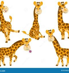 vector giraffes set [ 1300 x 1065 Pixel ]