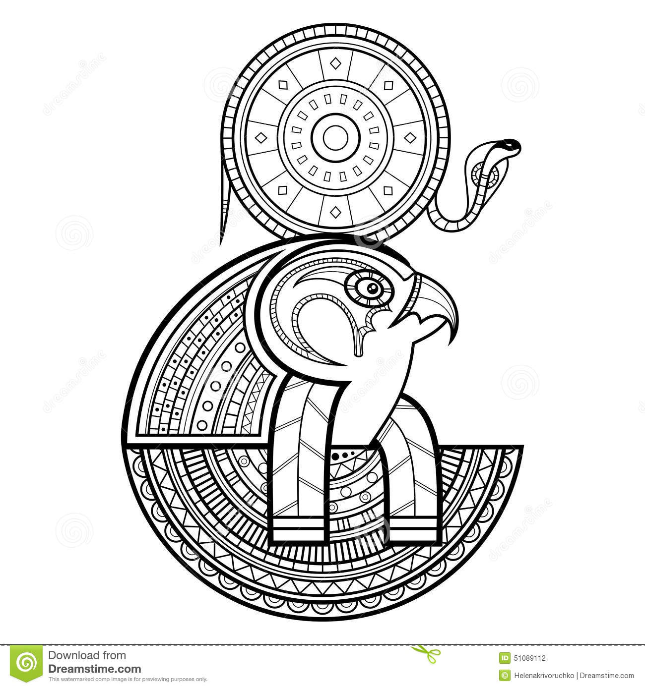 Vector God Of Ancient Egypt Stock Vector