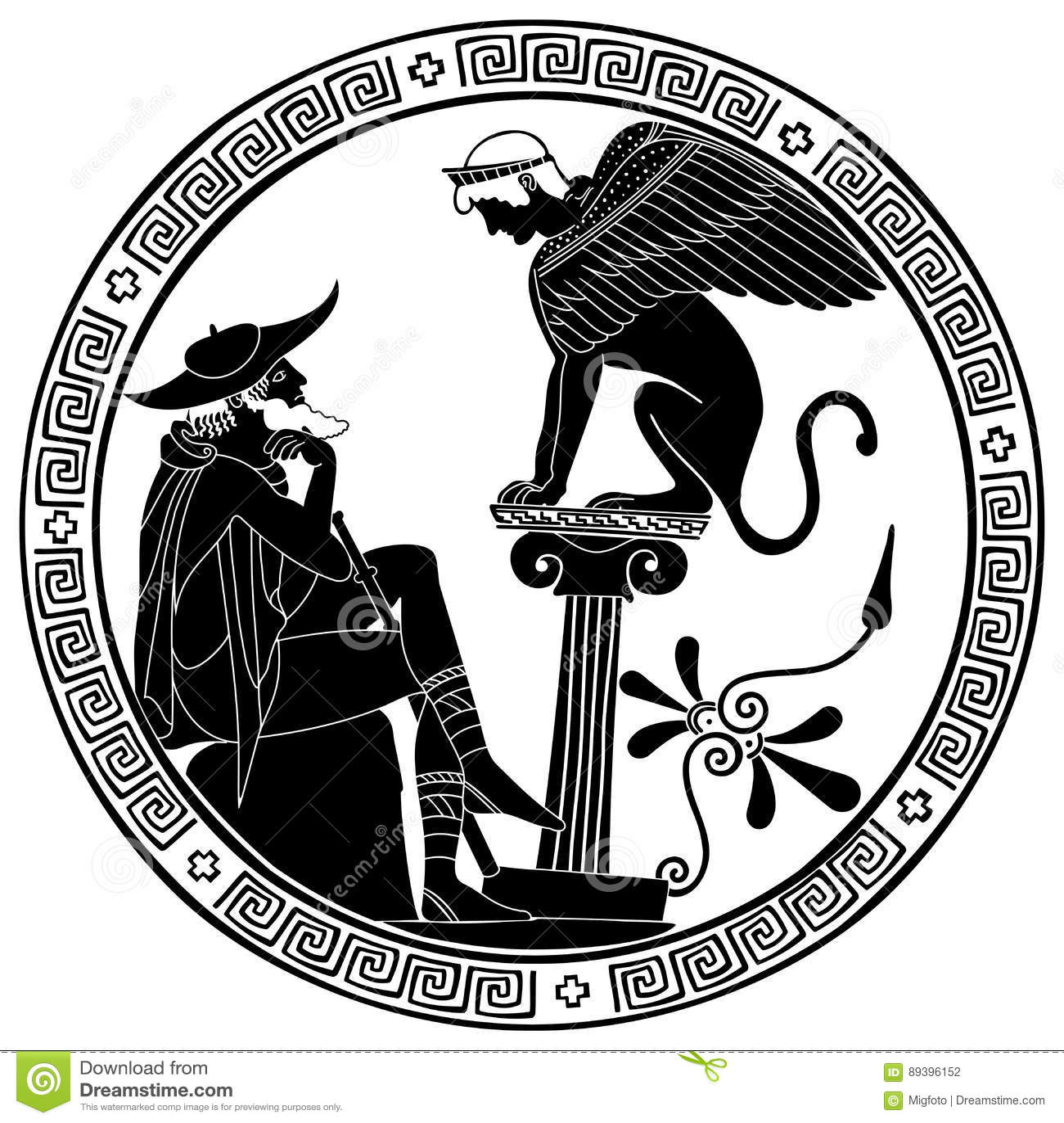 Vector Greek Drawing Stock Vector Illustration Of Greece
