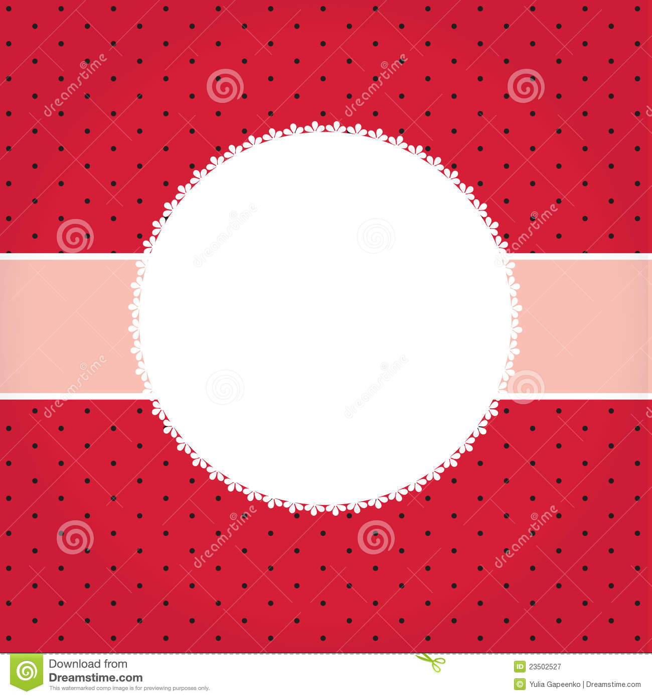 Vector Greeting Card Or Cover With Bow Stock Vector