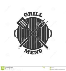 menu icon grill vector isolated