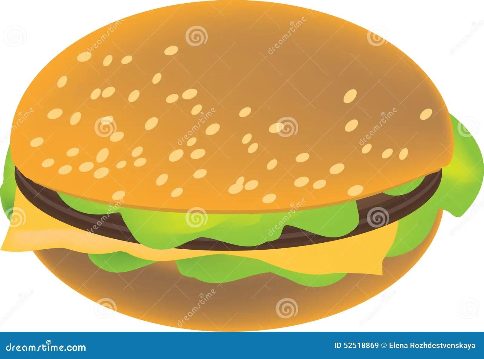 hight resolution of vector hamburger clipart image