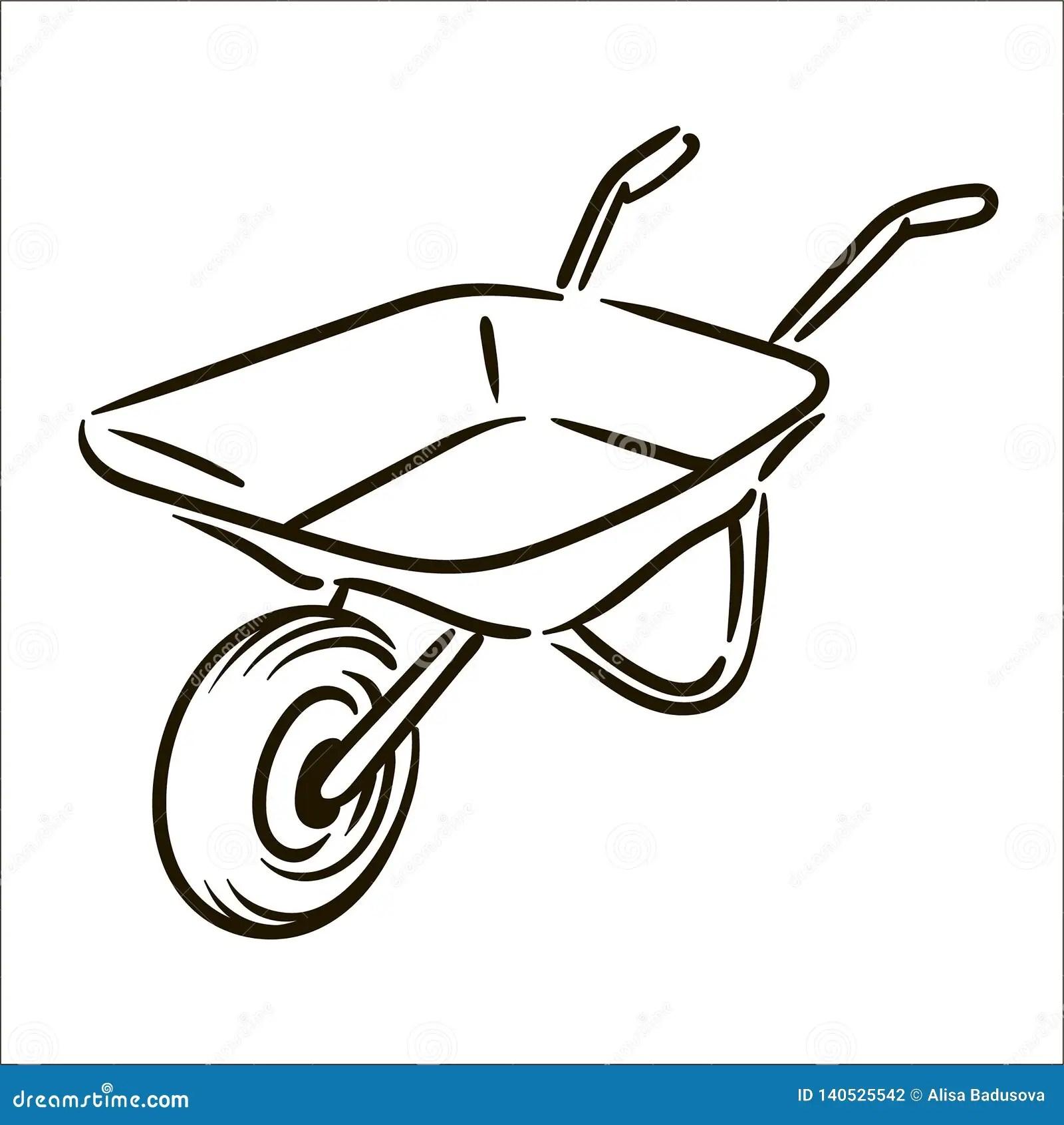 pics How To Draw A Simple Wheelbarrow https www dreamstime com vector hand drawn farm wheelbarrow simple sketch illustration vector hand drawn farm wheelbarrow simple sketch illustration image140525542