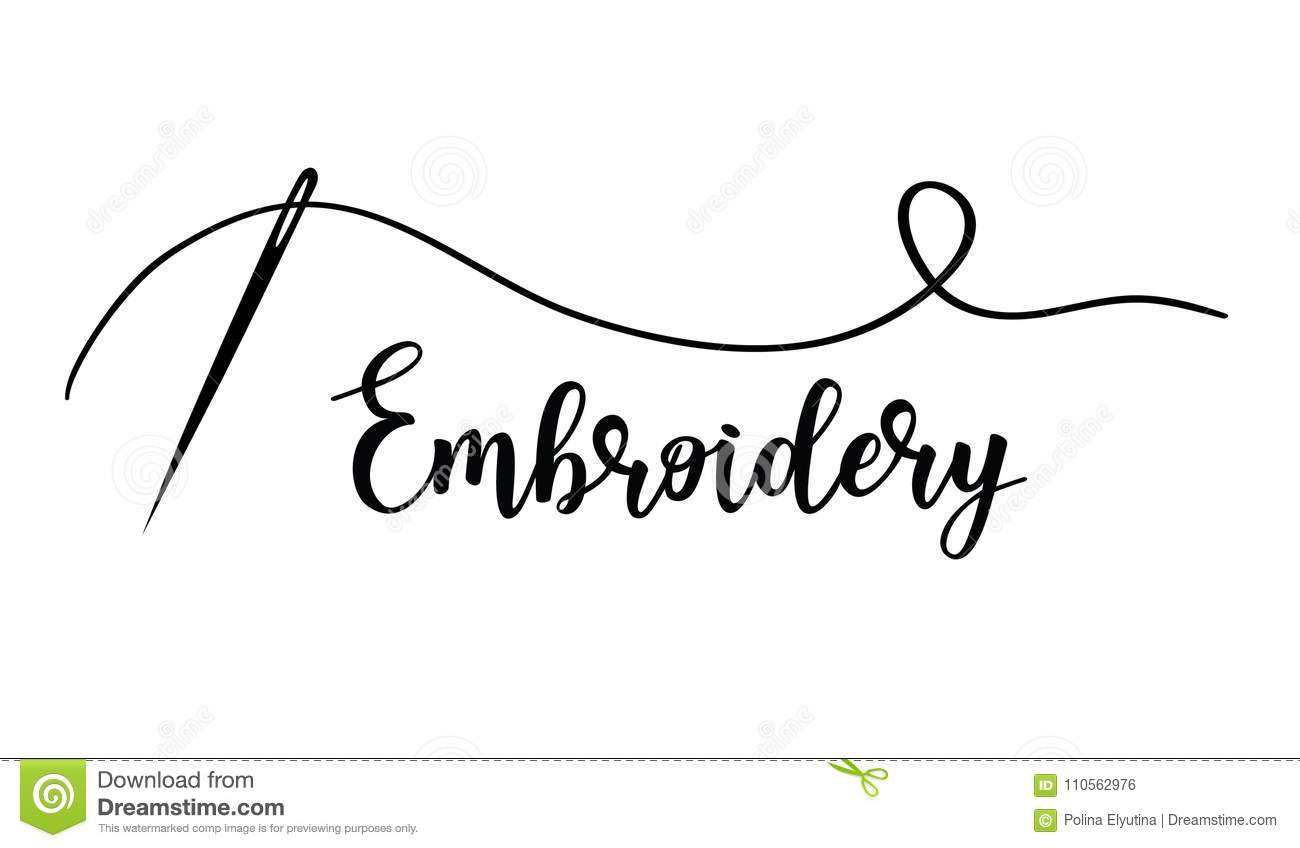 Embroidery With Needle Vector Hand Made Symbol In Trendy