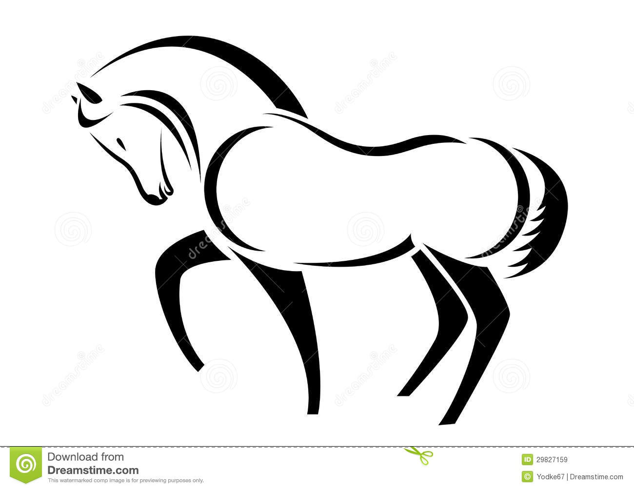 Vector Head Of Horse Stock Vector Illustration Of Cartoon
