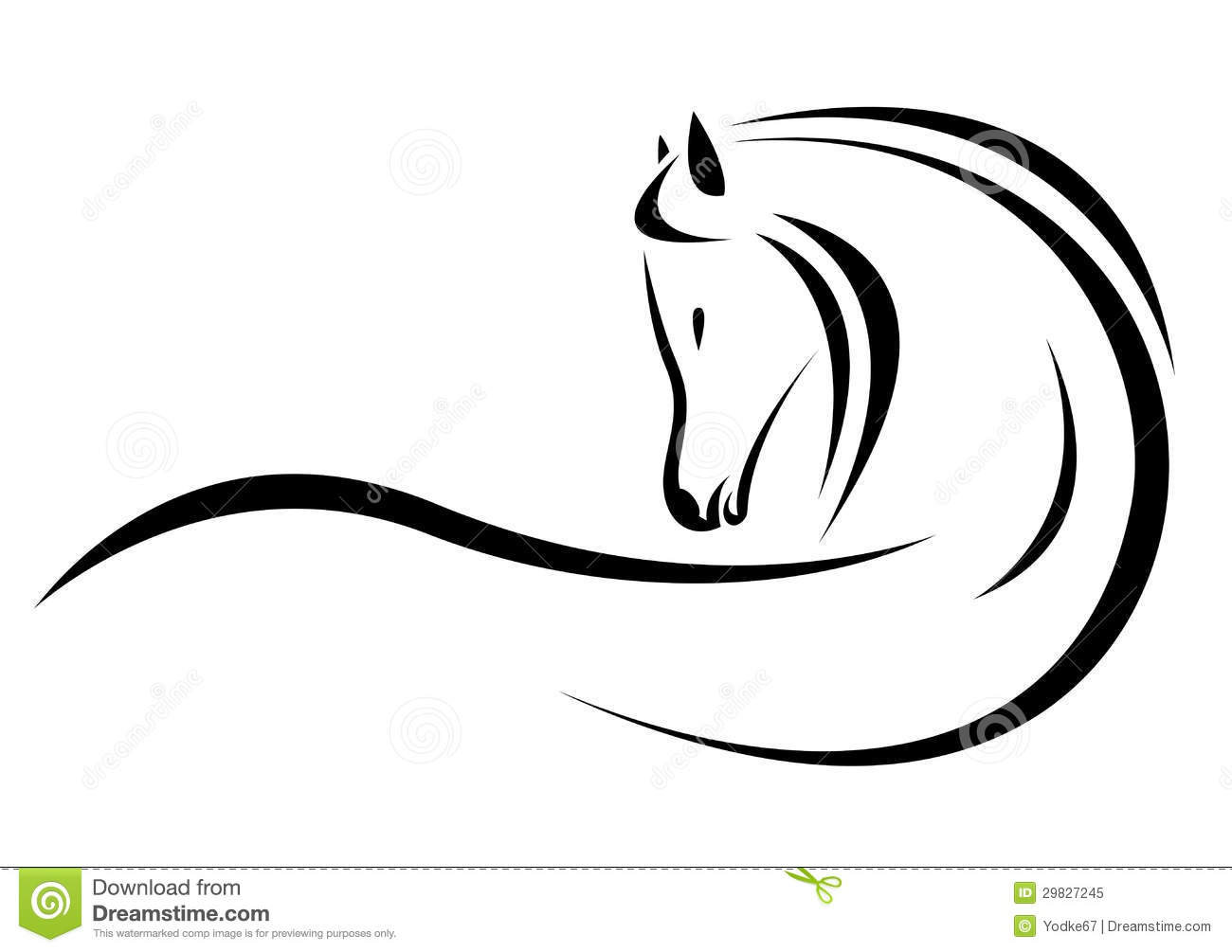 Vector Head Of Horse Stock Vector Illustration Of Design