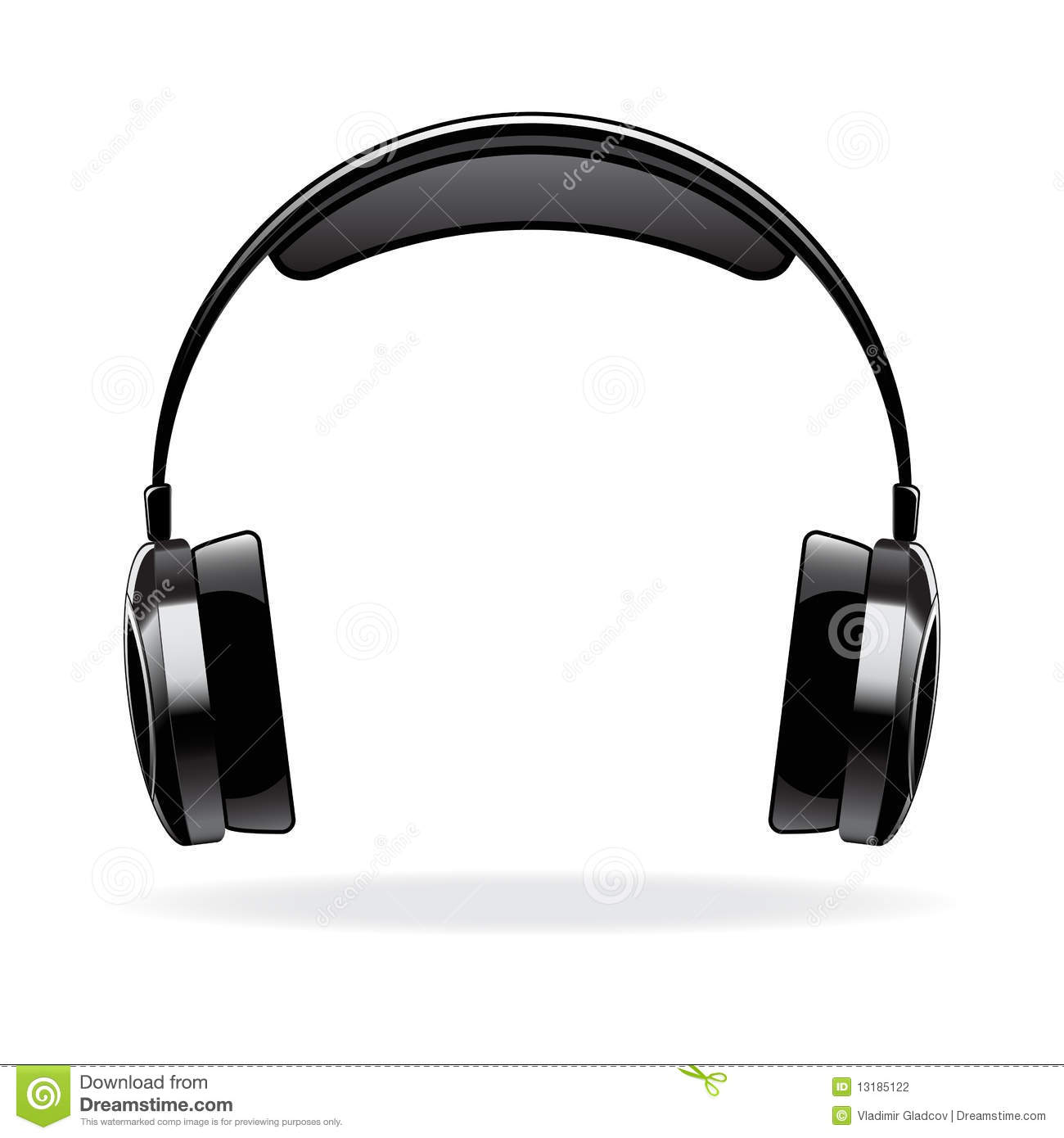 vector headphone stock vector