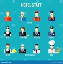 Hotel Staff Cartoon