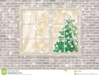 Vector House Window With Christmas Tree. Stock Vector