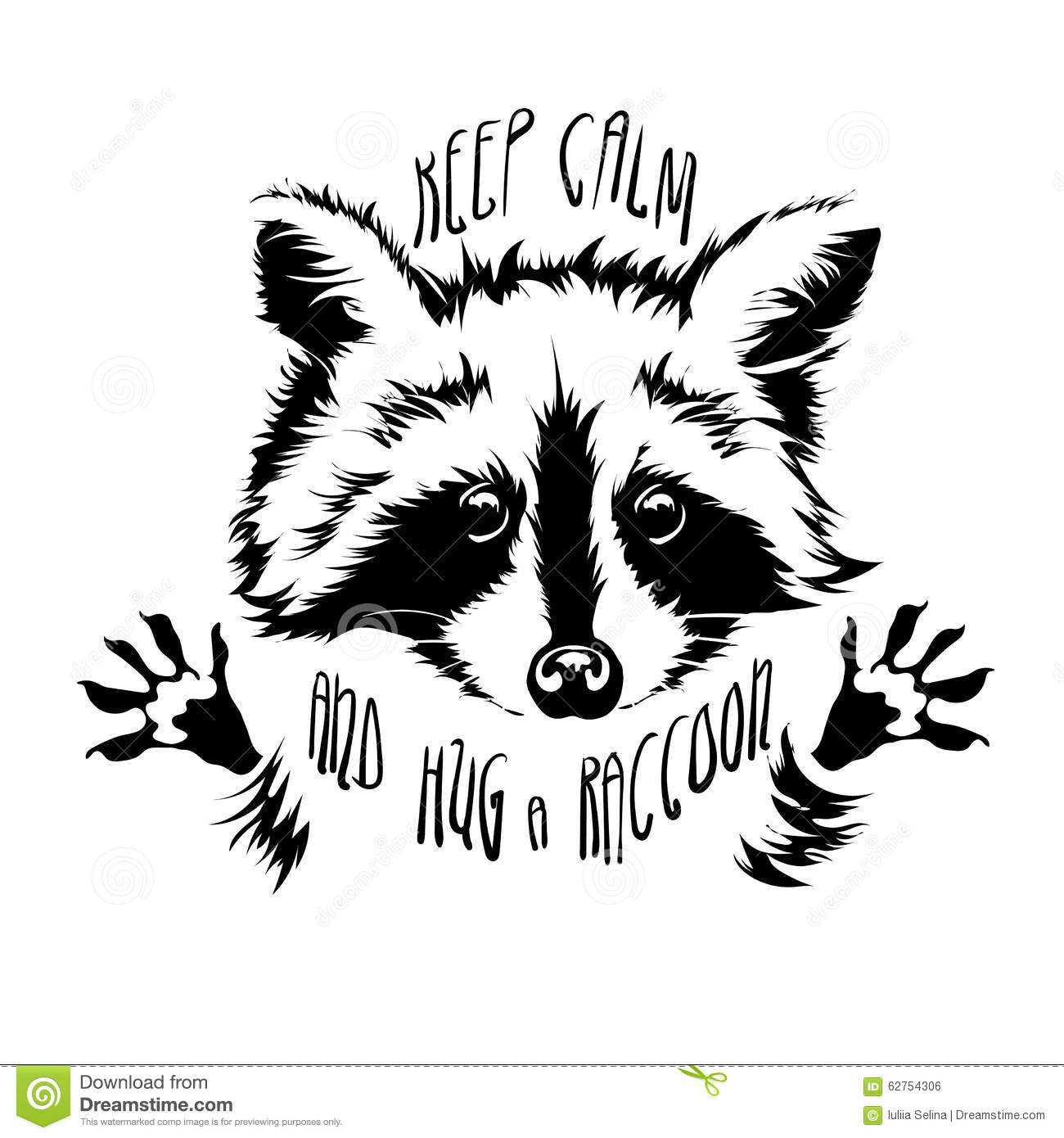 Vector Hug Raccoon Stock Vector Illustration Of Affable