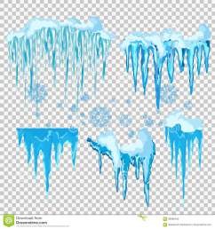 vector icicle and snow elements clipart different snow cap [ 1300 x 1390 Pixel ]