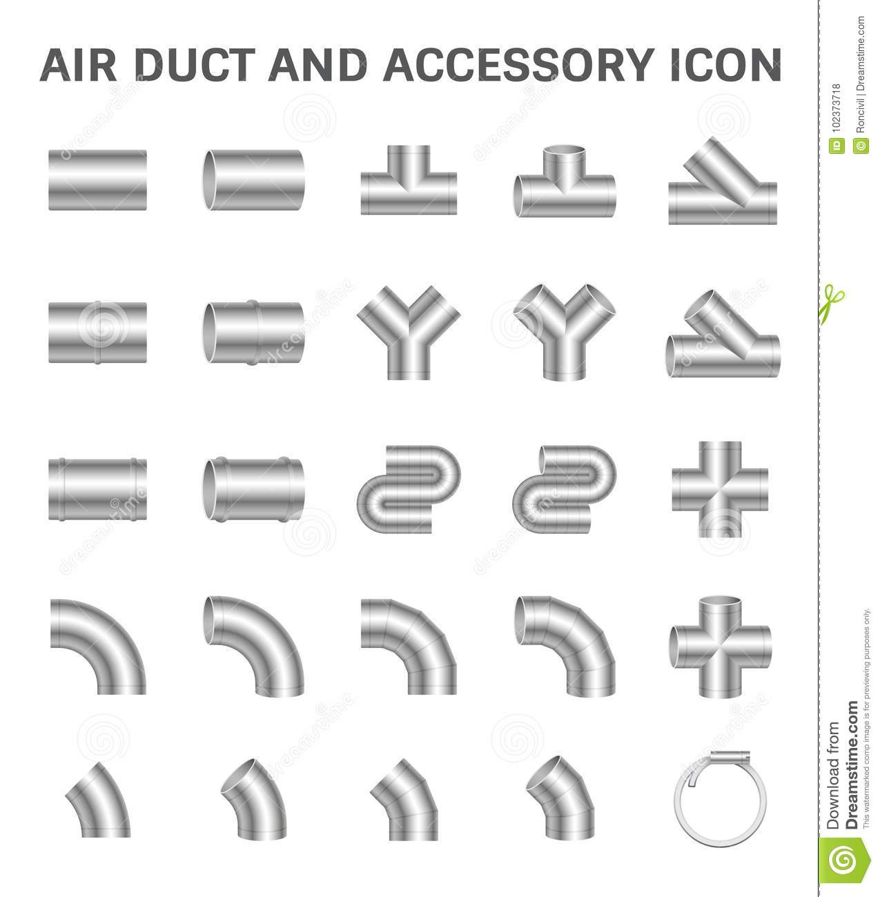 Duct Pipe Icon stock vector. Illustration of construction