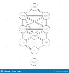 vector icon with tree of life kabbalah symbol [ 1600 x 1689 Pixel ]