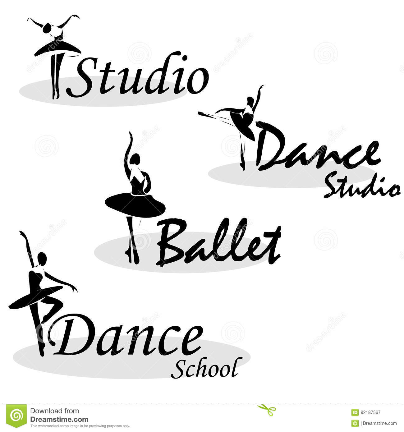 Vector Illustration Abstract Woman Icon In Dance. Dance