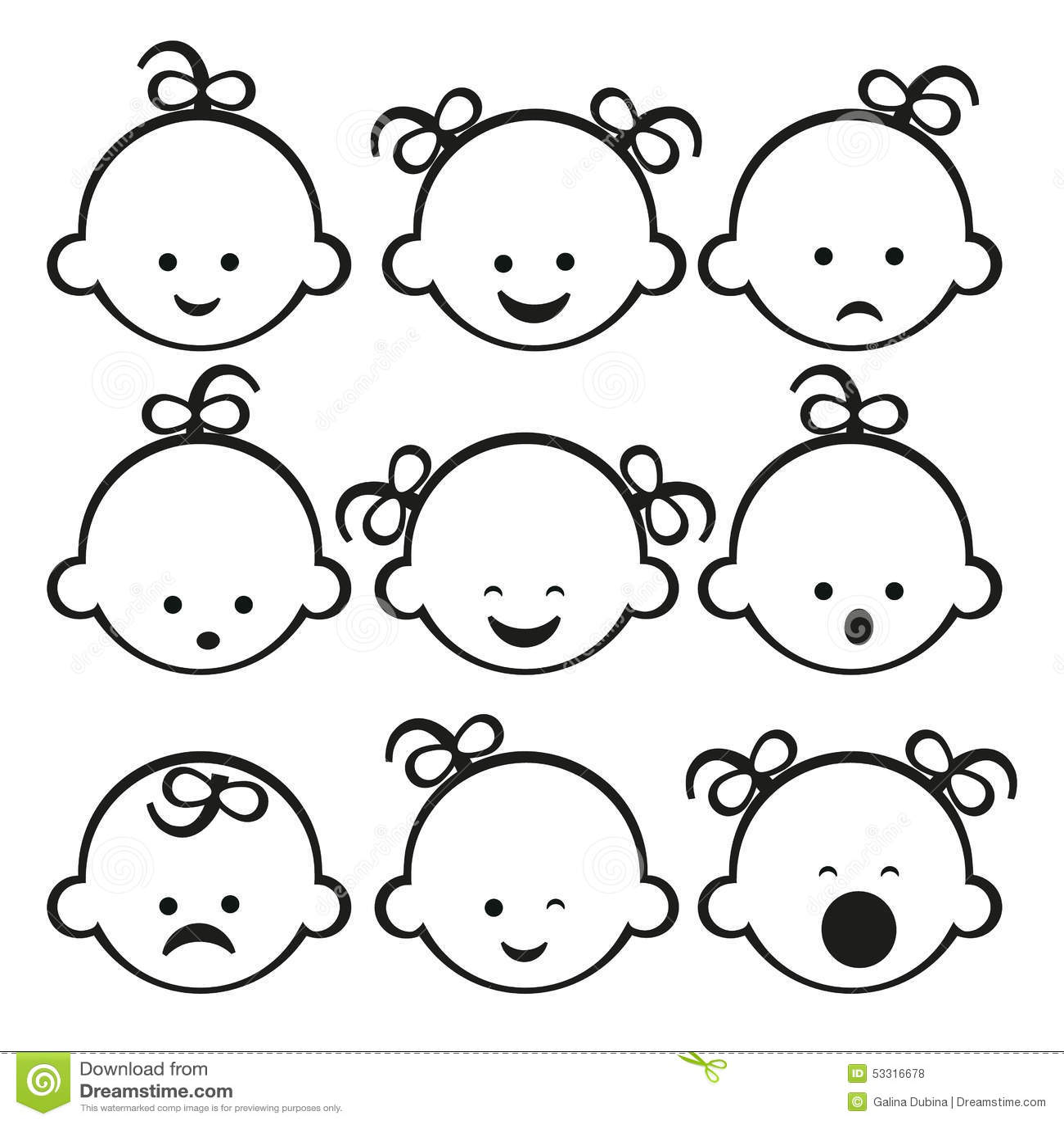 Vector Illustration Of Baby Girl Stock Vector