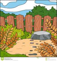 Vector Illustration, Background (backyard And Fence) Stock ...