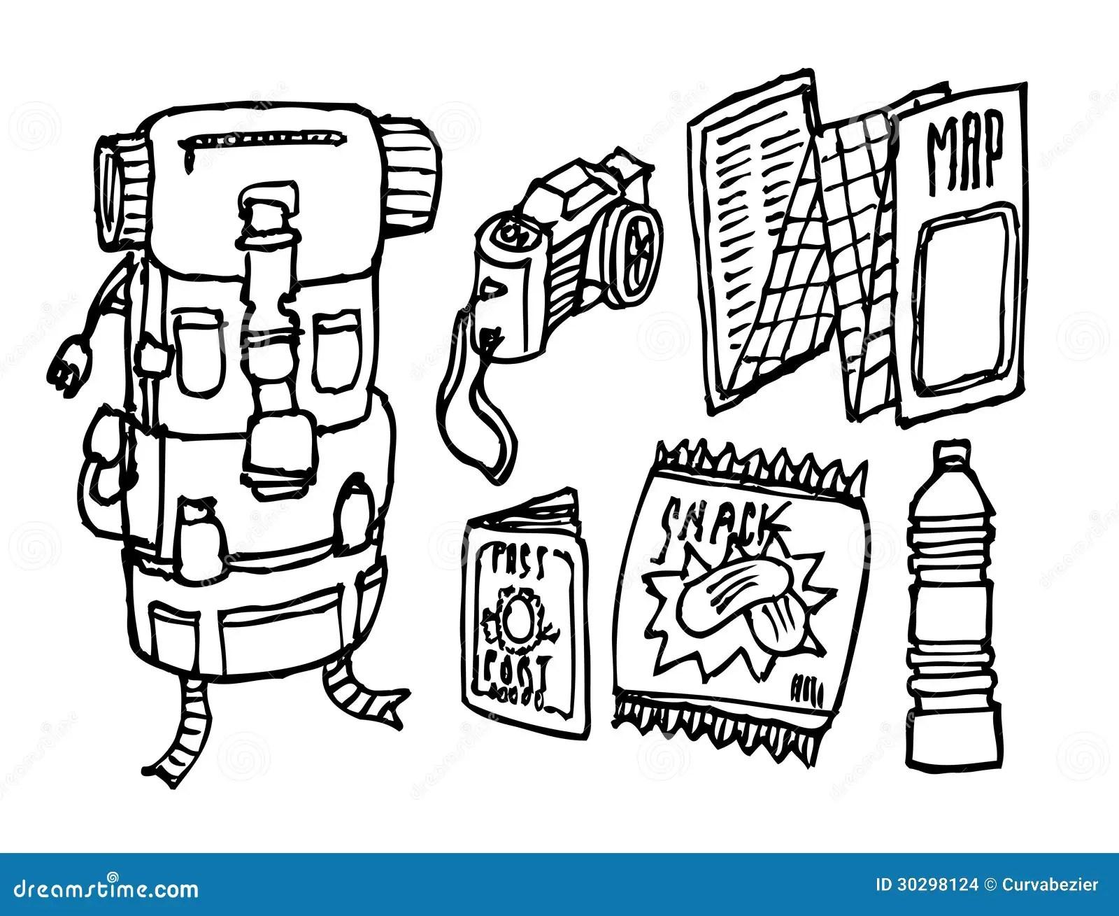 Backpacker Survival Set Stock Images