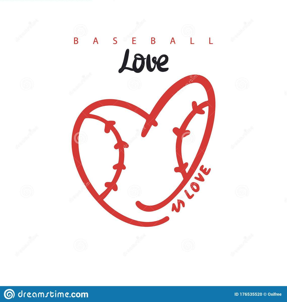 Download Vector Illustration For Baseball, Heart Shaped Ball, Is ...