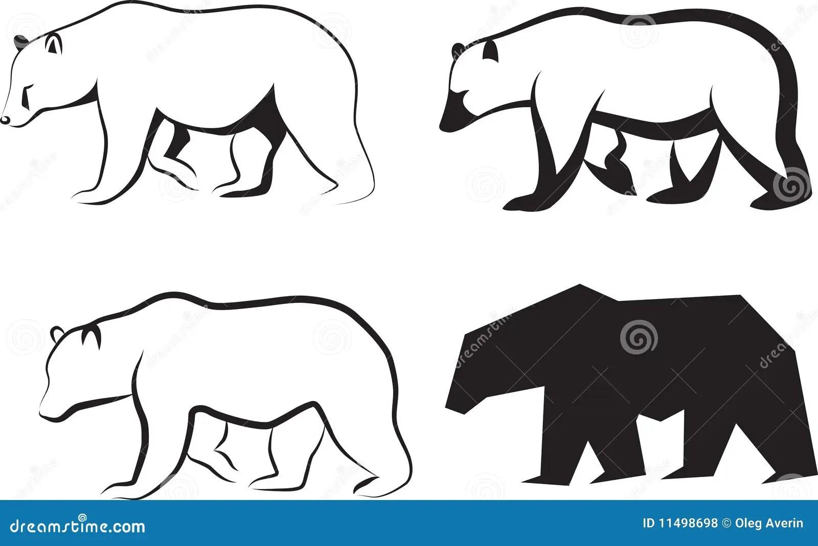 Vector Illustration Bear Stock Vector Image Of