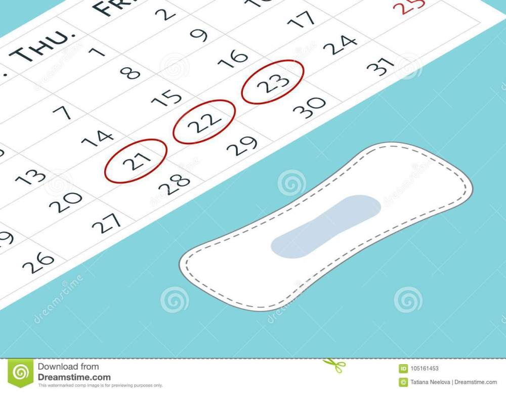 medium resolution of a calendar with the menstrual days marks and menstrual pads vector illustration of blood period