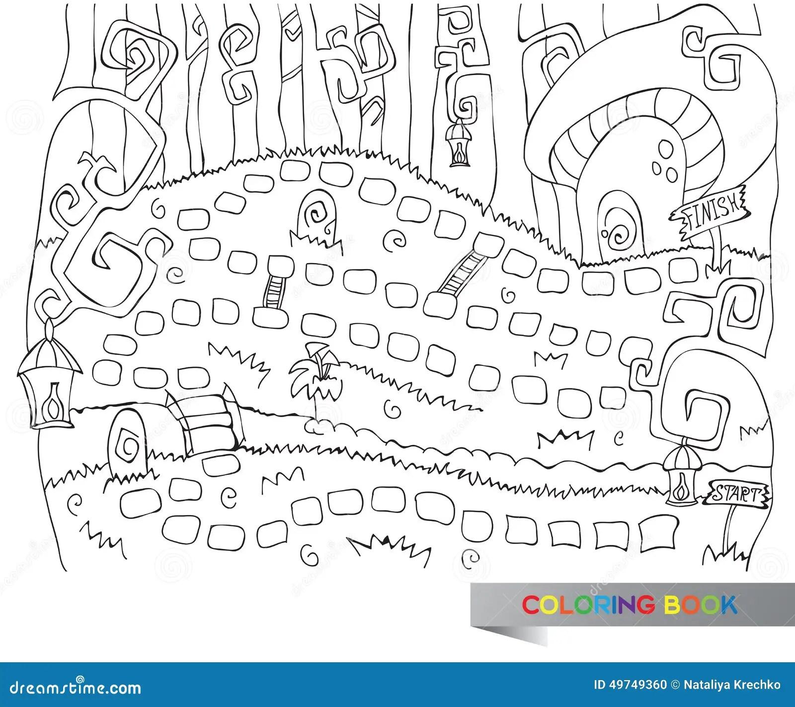 Go Board Game Sketch Coloring Page
