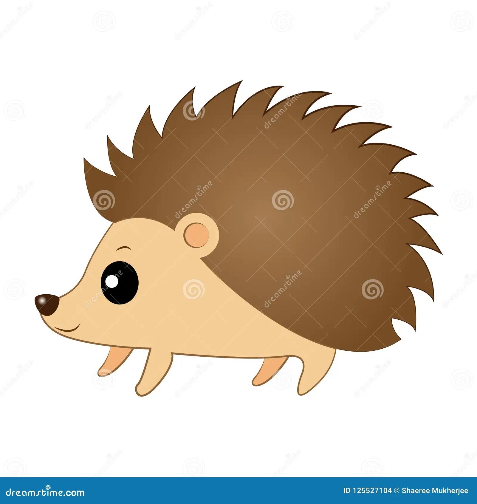 hight resolution of vector illustration clipart cute cartoon hedgehog autumn animal