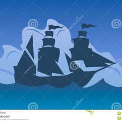 Columbus Ship Diagram Honeywell S Plan Wiring Frost Stat Vector Illustration Day Silhouette Of A At