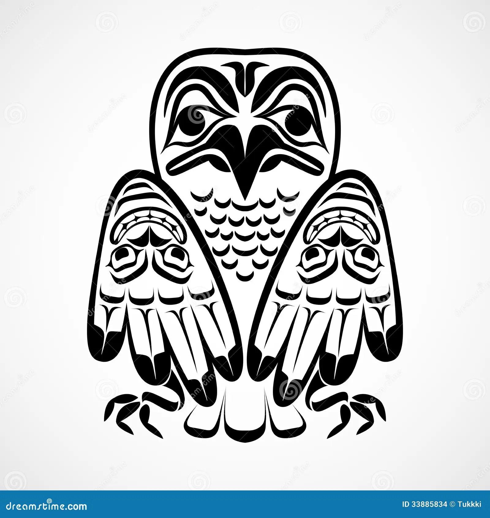 Vector Illustration Of An Eagle. Vector Illustration