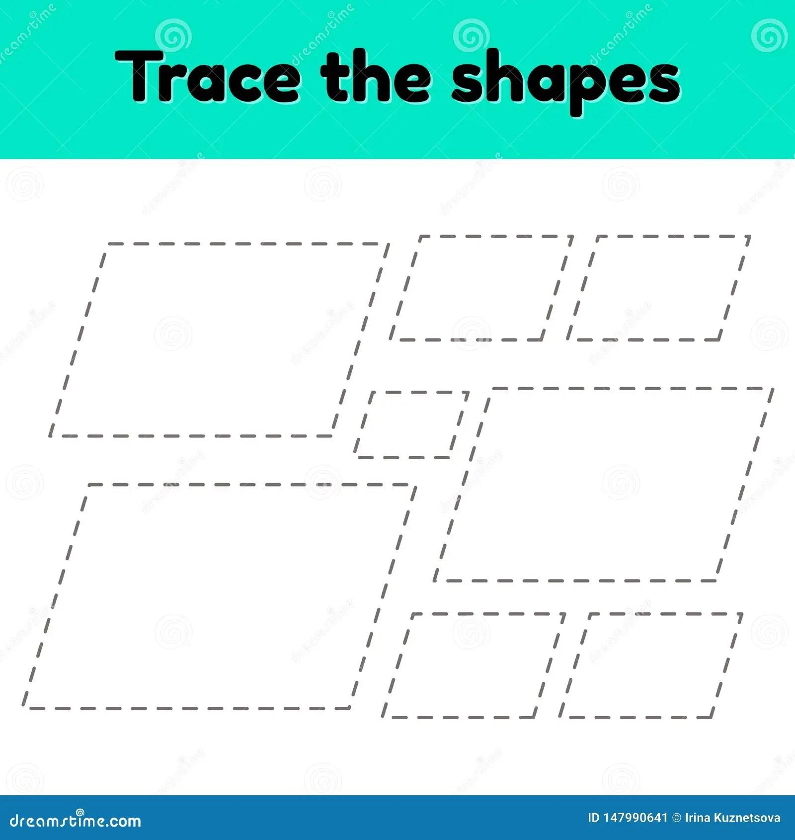 Educational Tracing Worksheet For Kids Kindergarten
