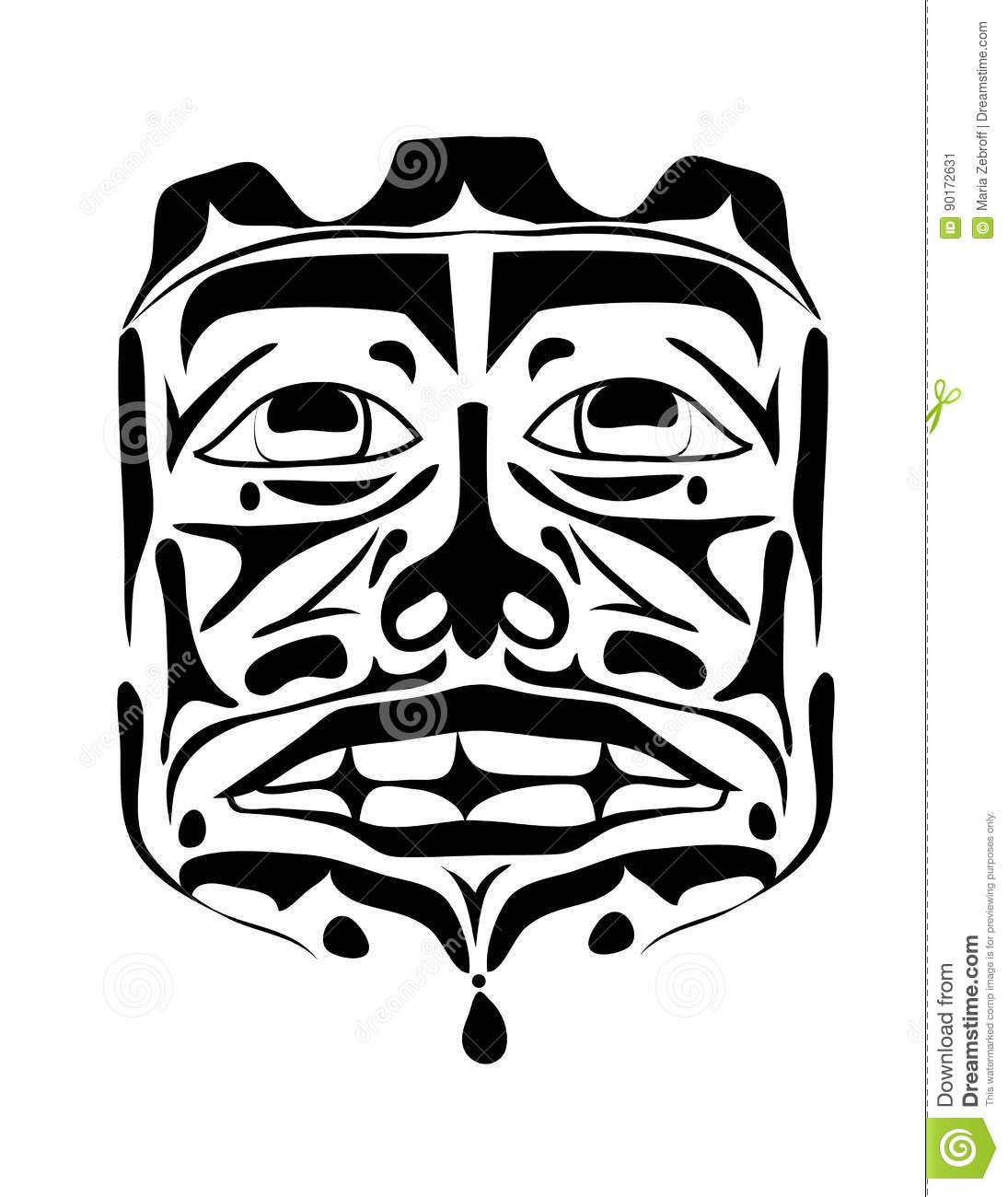 Vector Illustration Of The Face Symbol Stock Vector