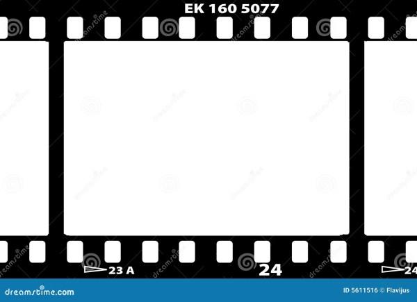 Vector Illustration Of Film Strip Stock