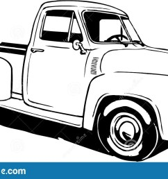 a vector illustration of a 1953 ford pickup [ 1600 x 947 Pixel ]