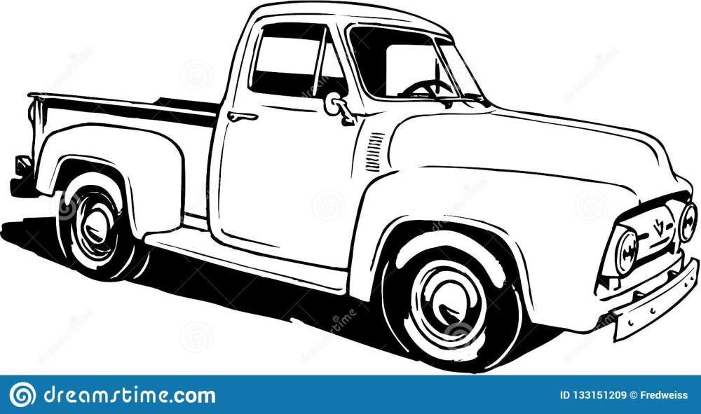 medium resolution of a vector illustration of a 1953 ford pickup