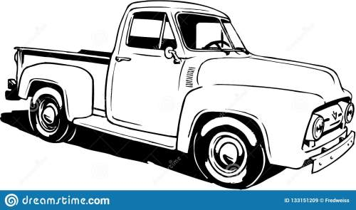 small resolution of a vector illustration of a 1953 ford pickup
