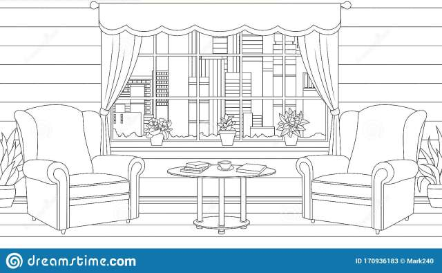 Apartment Coloring Stock Illustrations – 26,26 Apartment Coloring